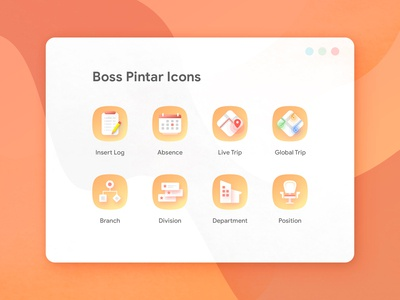 BOSS PINTAR Icons Set
