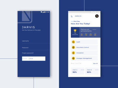 Dashboard page for Employe App
