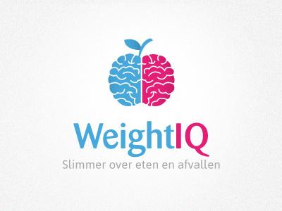 Logo Weightiq logo health apple brains vector