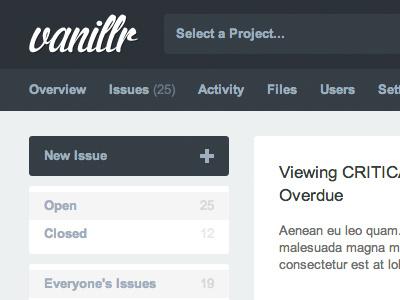 Vanillr Issue Tracker vanillr issues issue tracker