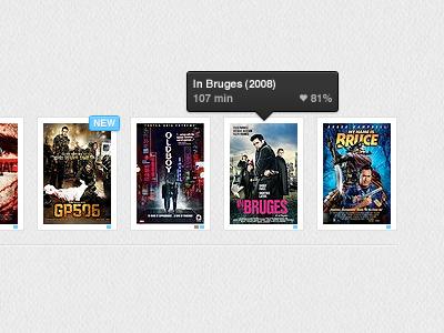 Movie Catalogue movies tool tips badges