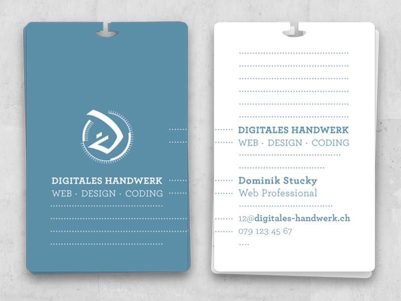 Visitenkarte Digitales Handwerk By Dominik Stucky On Dribbble