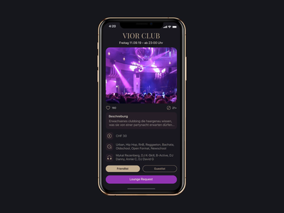 ClubCity app mobile app dinarys nightlife guestlist lounge friendlist ui animation motion ux uidesign night club animation clubcity interaction ios app