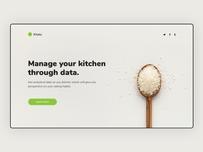 Landing Page Concept kitchen photograph design landing page concept