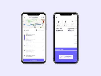 Mobile Tracking App companion app tracking app ui design mobile ui