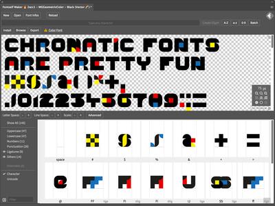 Color fonts in Fontself Maker