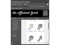 Make ligatures is the easy way ;)