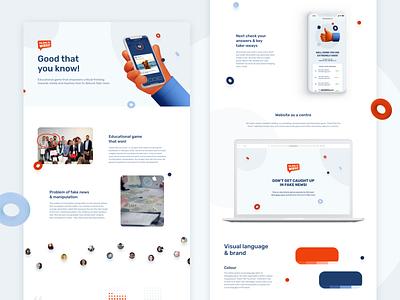 Fakes? No, thanks! Case study animation orange blue 3d hands 3d shapes branding logo mobile desktop product design design ux ui