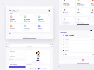 Friendly Plans –app for autism therapist illustration mobile product design design ux ui