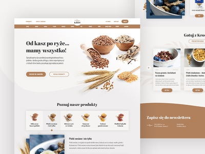 Website for a groats manufacturer food product ux ui