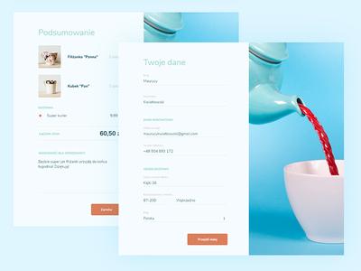 Ordering form for e-commerce