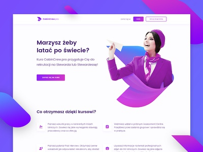 Cabin Crew keyvisual homepage design ui ux