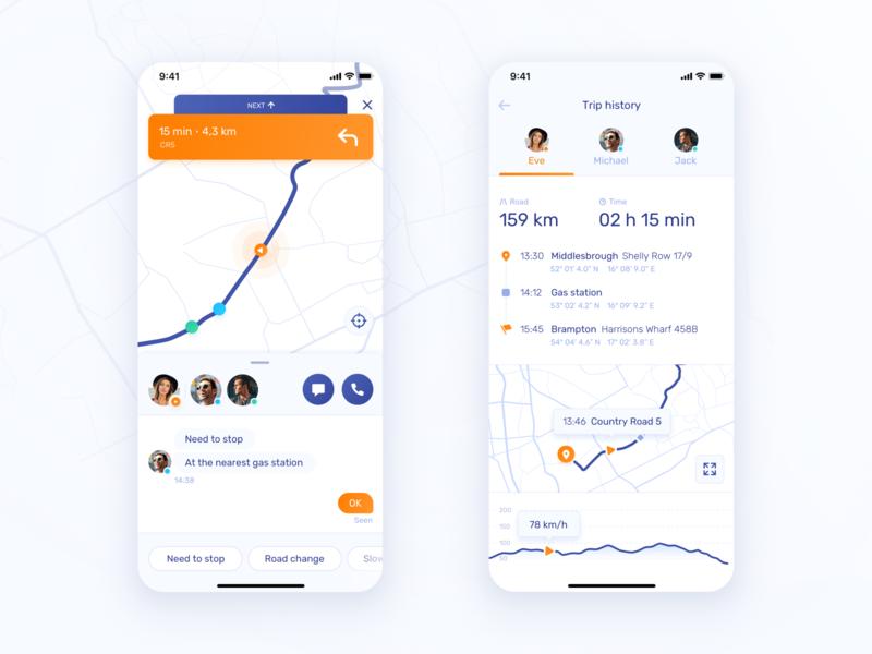 TeamTravel – travel view & statistics travel app statistics chat app map ui iphone x design ux ui
