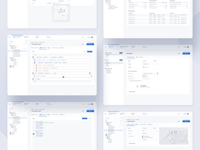 Modern PSIM Redesign security webapps uxui uiux ui settings psim product design map data tree dashboard building