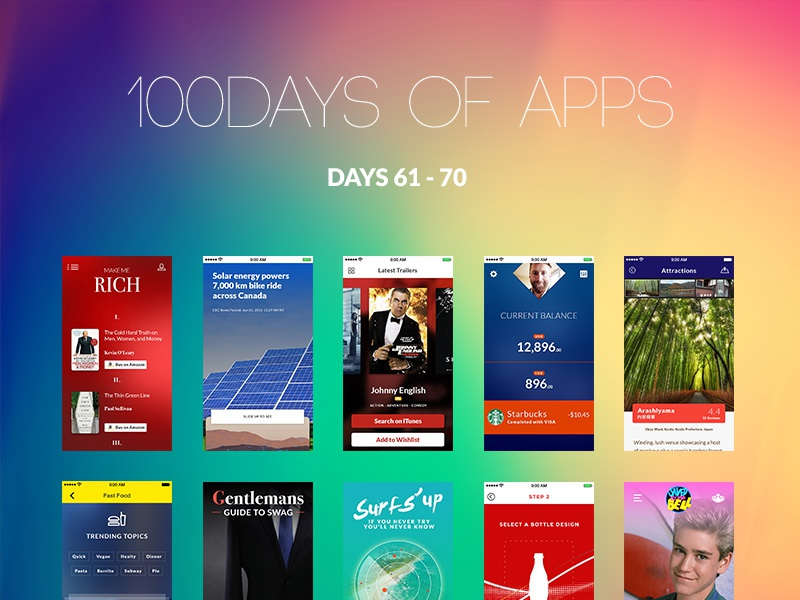 100Days of Apps - part VII days app ui ux design 100