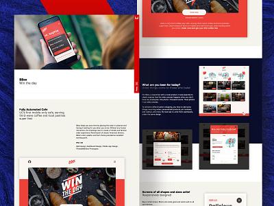 Mihai Vladan - Project Page case study project page portfolio webdesign black red iphone design ui
