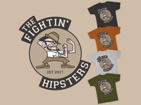 The fightin' hipsters t-shirt design