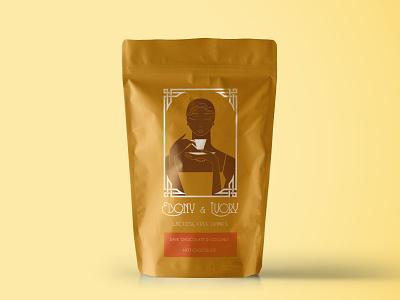 Ebony & Ivory label mockup design branding logo product
