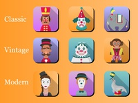 Online casino game - Circus theme