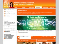 Educators web page