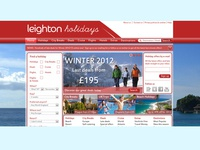Holiday bookings website