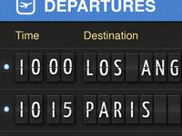 Airport flipboard