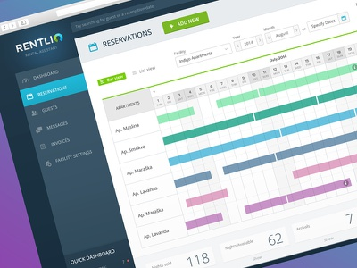 800x600 Reservations calendar reservations ux user interface ui design saas charts