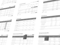 Table wireframes
