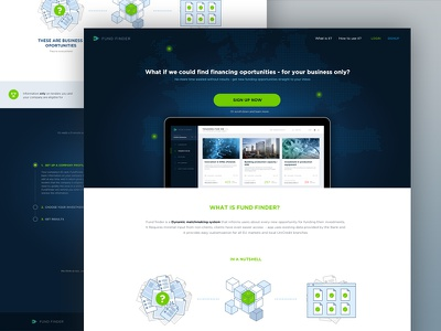 Fundfinder Landing page design ux homepage landing page
