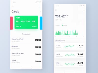 Finance UI design