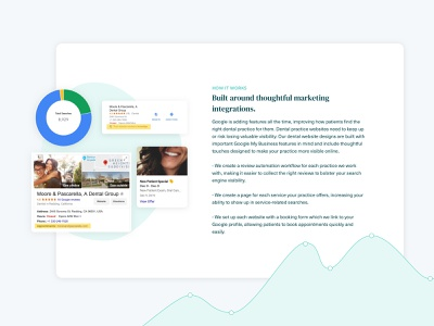 Local Landing Pages dental medical healthcare gradient blobs serif font landing page web design