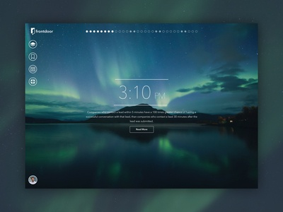 Front Door Web App Designs product design simple clean interface simple app minimal design ux ui