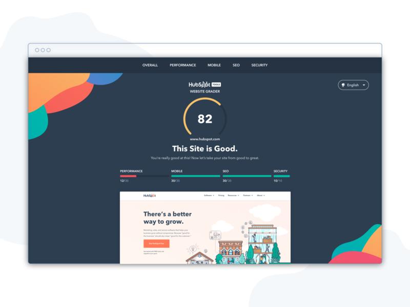 Website Grader reskin visual design design leads ux ui