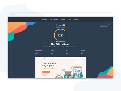 Website Grader reskin visual design design leads ux ui