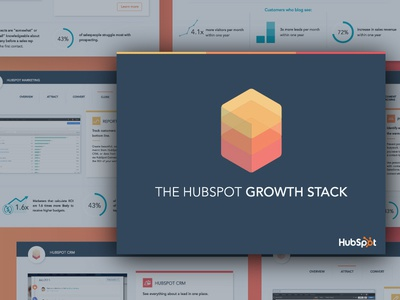 Growth Stack Sales Collateral graphic design flat corporate sales collateral pdf ebook ebook