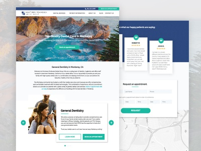 Dental Office Website office dental dentist website web ux user ui homepage experience design clean