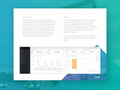HubSpot + Iconosquare eBook Collaboration instagram data data viz gradient digital book design ebook