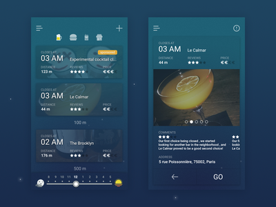 Going out tonight ? go out ui mobile dark night app