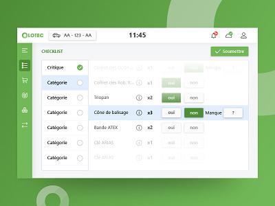 Olotec - Ordering and tracking equipment app equipment business ui ux design app
