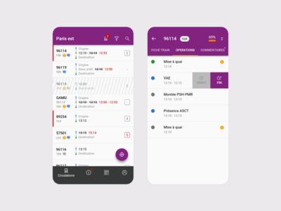 Train station management app