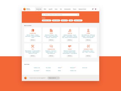 Service Gateway - Intranet redesign