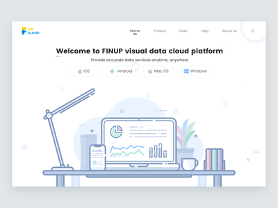Findata dashboard illustration clean mbe design color ui