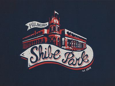 Shibe Park T-Shirt Design t-shirt design ballpark retro vintage stadium baseball philly philadelphia logo tee sports