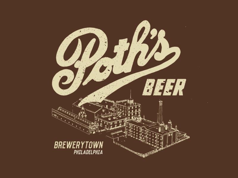 a66c7839c75 Poth s Beer T-Shirt Design craft beer shirt design factory retro vintage  illustration philly philadelphia