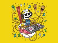 Ramen Illustration for Cheu Noodle Bar