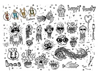 Spot Illustrations for Cheu Fishtown