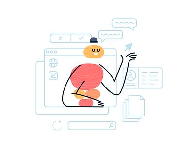 Pebble People - UX Designer icon branding icons cartoon vector flat doodle design sticker illustration ux ui designer character design blush