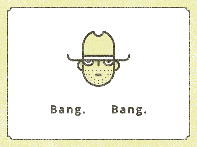 Bang. Bang. wanted bang wild west face vector illustration cowboy