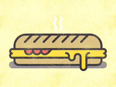 Hot sub cheese sub lunch food vector sandwich