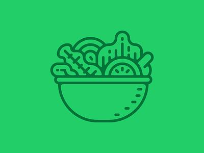 Salad bowl icon green healthy food vector icon bowl salad